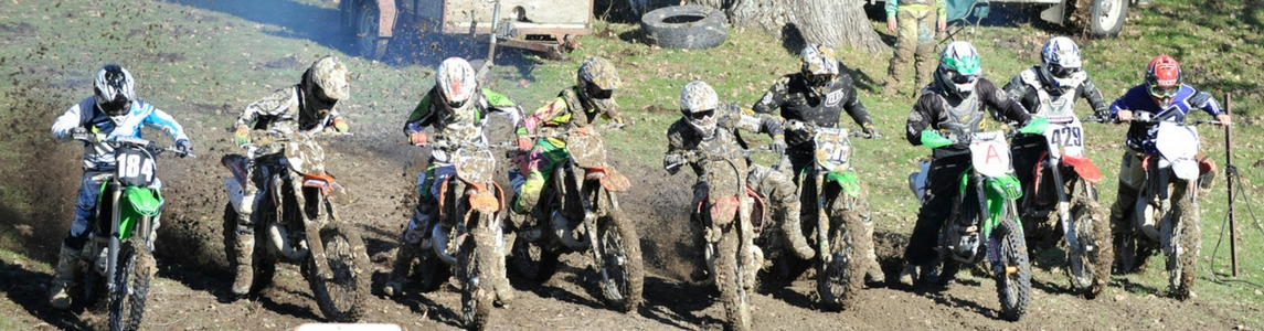 motocross racers get ready to start a race in Gisborne